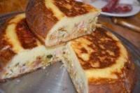 Як приготувати пиріг капустяний з ковбасою в мультиварці - рецепт