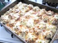 Як приготувати пиріг з фаршированими грибами - рецепт