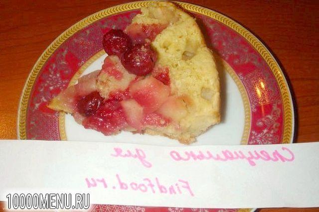 Фото - Пиріг з яблуками і вишнею в мультиварці - фото 10 кроку