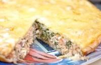 Як приготувати пиріг з сьомгою і шпинатом? рецепт