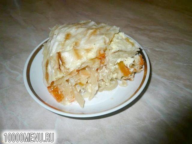 Фото - Пиріг закусочний з квашеною капустою - фото 10 кроку