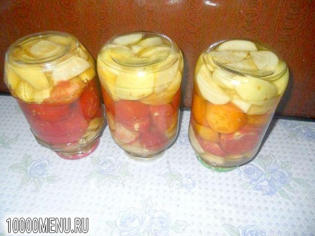 Фото - Помідори з яблуками на зиму - фото 6 кроку
