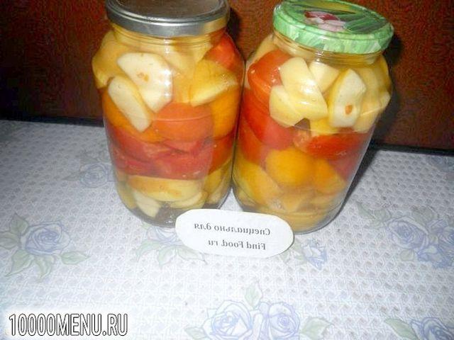 Фото - Помідори з яблуками на зиму - фото 7 кроку