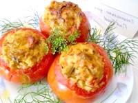 Як приготувати помідори запечені з баклажанами - рецепт