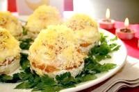 Як приготувати порційний салат мімоза? рецепт