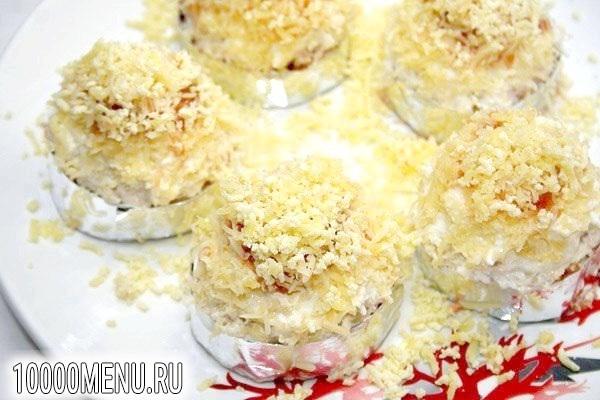 Фото - Порційний салат Мімоза - фото 7 кроку