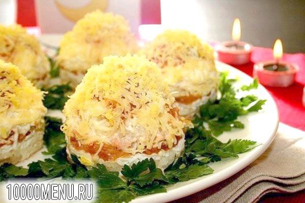 Фото - Порційний салат Мімоза - фото 8 кроку