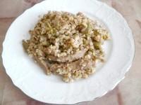 Як приготувати пісну гречку зі стручкової квасолею і соєвим м'ясом - рецепт