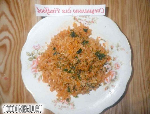 Фото - Пісна тушкована капуста з рисом - фото 9 кроку