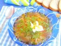 Як приготувати пісний борщ з щавлем і кропивою - рецепт