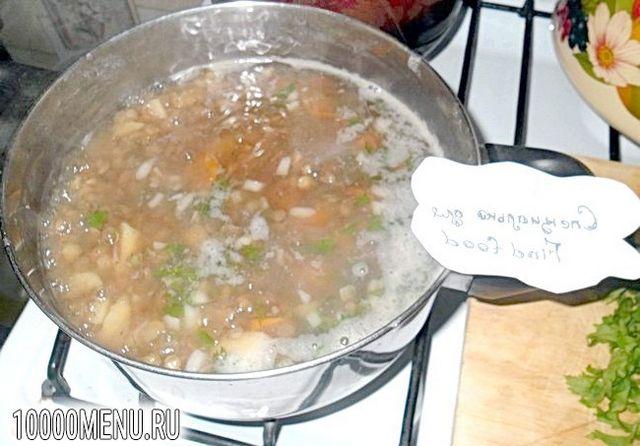 Фото - Пісний суп з сочевицею - фото 4 кроки