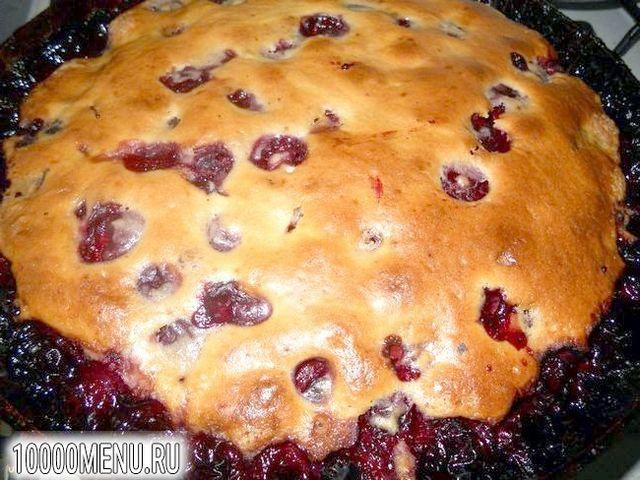Фото - Простий пиріг з вишнею - фото 8 кроку
