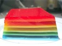 Як приготувати різнобарвне листкове желе. рецепт