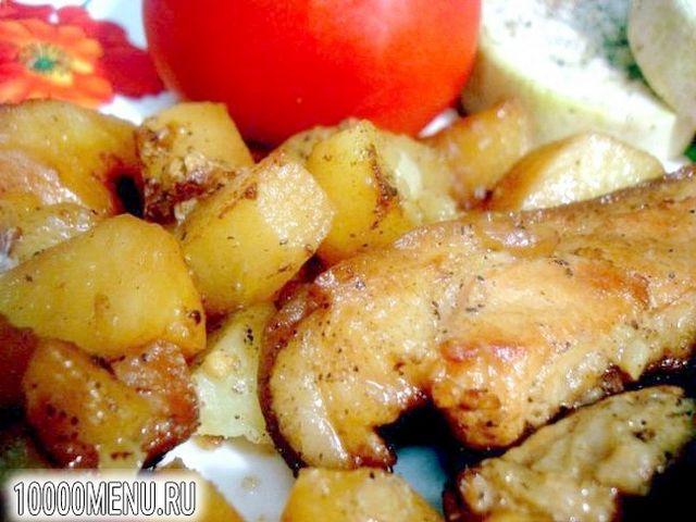 Фото - Реберця з картоплею в мультиварці - фото 4 кроки