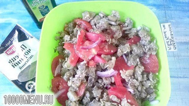 Фото - Салат з баклажанами і помідорами - фото 6 кроку