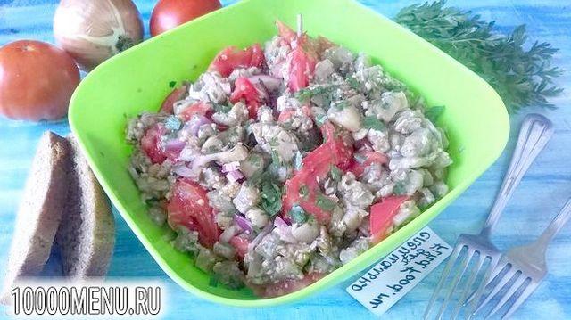 Фото - Салат з баклажанами і помідорами - фото 7 кроку