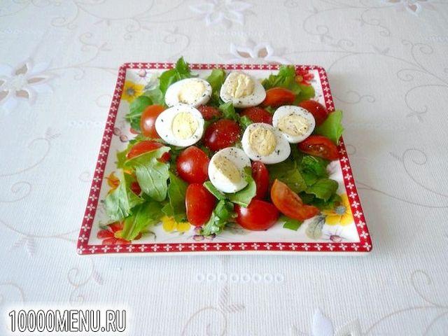 Фото - Салат з перепелиними яйцями і черрі - фото 5 кроку