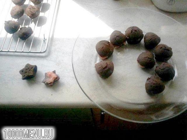 Фото - Шоколадні сердечка з начинкою - фото 12 кроку