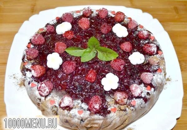 Фото - Шоколадний торт Ягідна поляна - фото 16 кроку