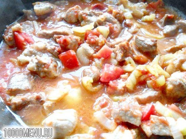 Фото - Свинина з баклажанами в гострому соусі - фото 4 кроки