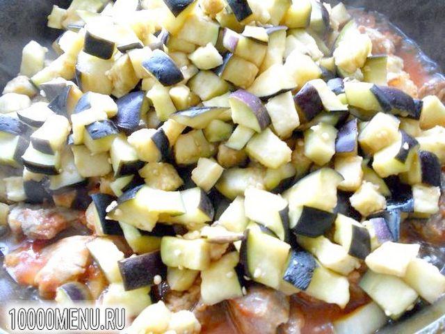 Фото - Свинина з баклажанами в гострому соусі - фото 5 кроку