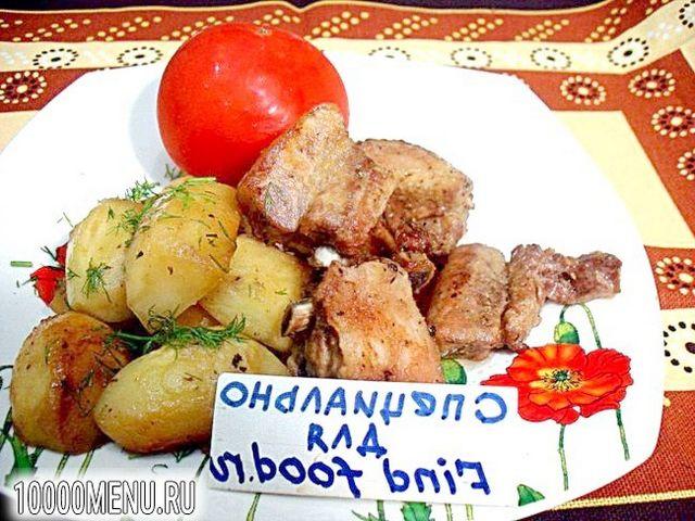 Фото - Свинячі реберця запечені з картоплею - фото 12 кроку