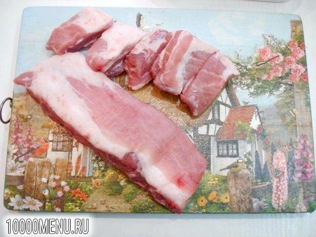 Фото - Свинячі реберця запечені з часником - фото 1 кроку