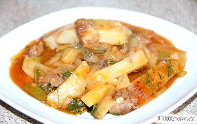 Кулінарний рецепт азу з тушонкою з фото
