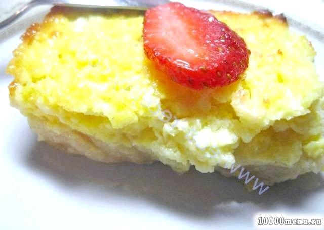 Кулінарний рецепт бананово-сирна запіканка з фото