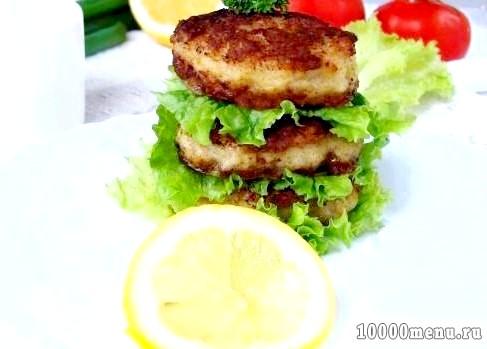 Кулінарний рецепт биточки з кальмарів з фото