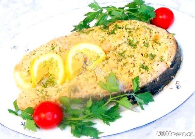 Кулінарний рецепт форель в горіховій шубі з фото