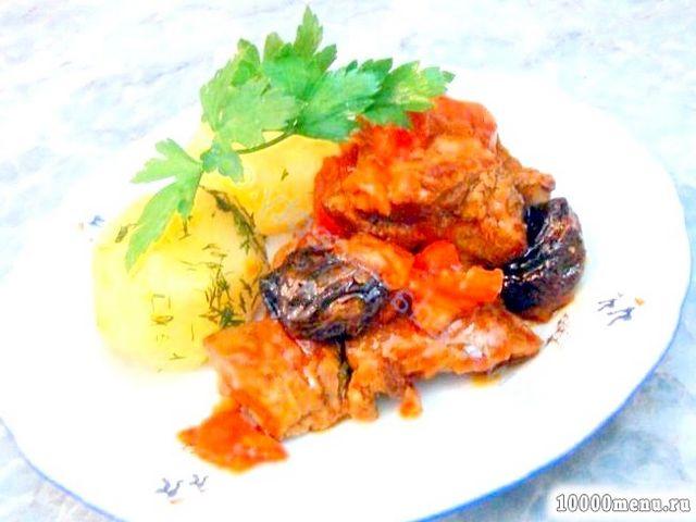 Кулінарний рецепт яловичина з чорносливом з фото