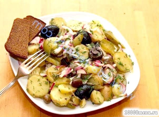 Фото - Грузді смажені з картоплею
