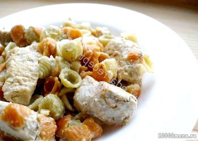 Кулінарний рецепт індичка під сирно-сметанним соусом з фото