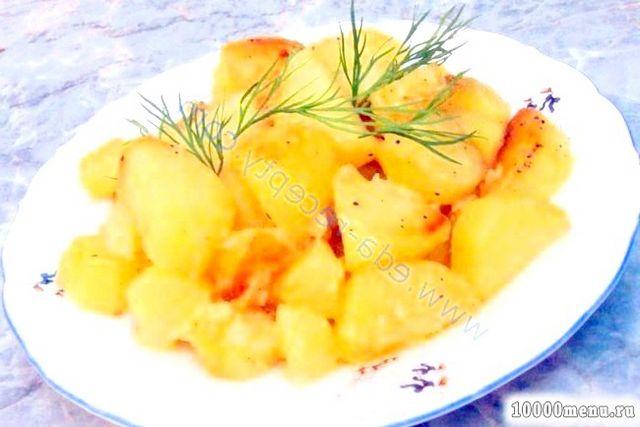 Кулінарний рецепт картопля, смажена в мультиварці з фото