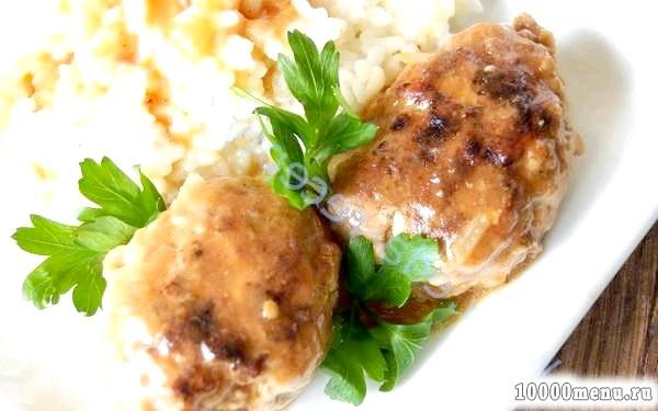 Кулінарний рецепт котлетки з томатною підливою з фото