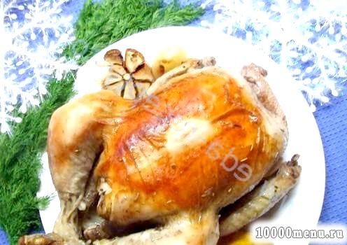 Кулінарний рецепт курка, запечена з лимоном з фото