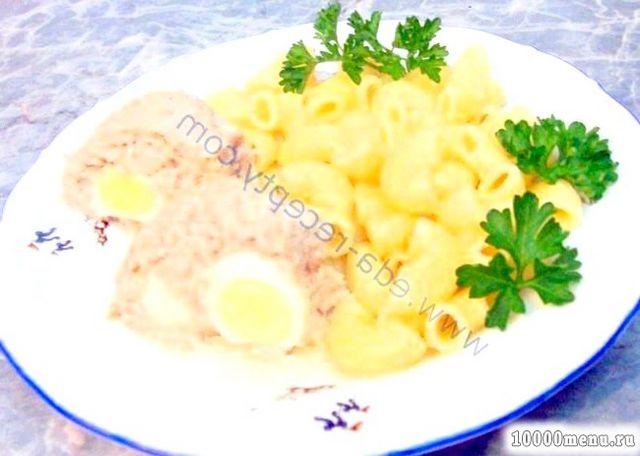 Кулінарний рецепт куряче суфле з яйцями у формі з фото