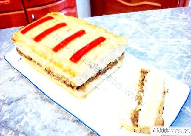 Фото - Курячий хліб із сиром і грибами