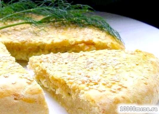 Кулінарний рецепт коржик сирно-сирна з фото