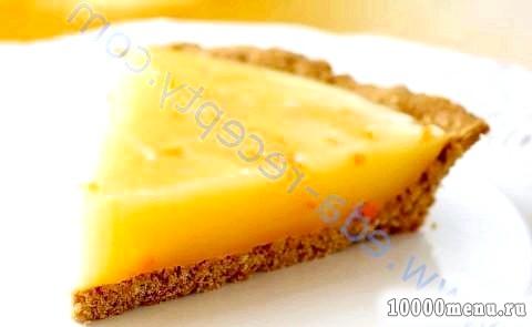 Кулінарний рецепт лимонний пиріг з апельсином з фото