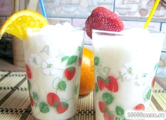Кулінарний рецепт молочно-банановий коктейль з фото