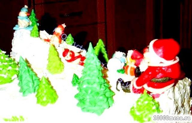 Фото - Новорічний торт Зимова казка
