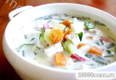 Кулінарний рецепт окрошка пісна з тофу з фото