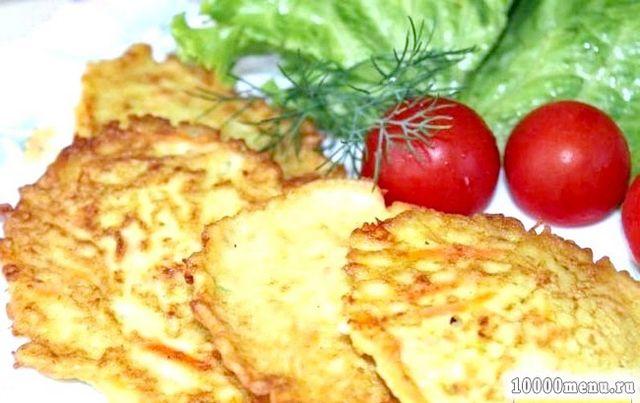 Кулінарний рецепт оладки з кабачків та картоплі з фото