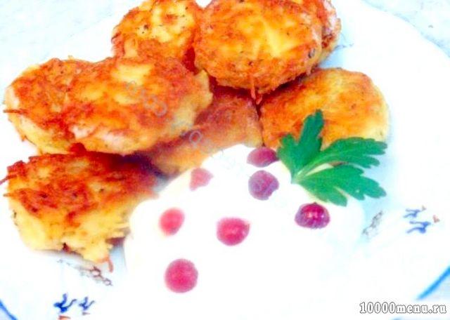 Кулінарний рецепт оладки з вермішелі з сиром з фото