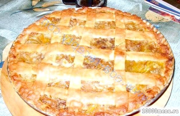 Фото - Пиріг з гарбузом і яблуками