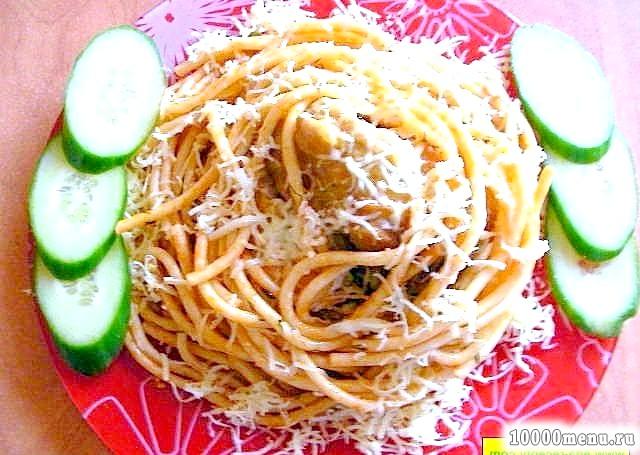 Кулінарний рецепт простий рецепт спагетті з фото