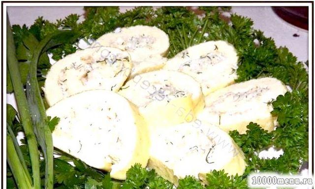 Кулінарний рецепт рулет з майонезу і яєць з фото