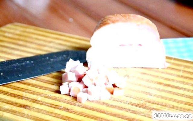 Фото - Шинку також ріжемо кубиком.